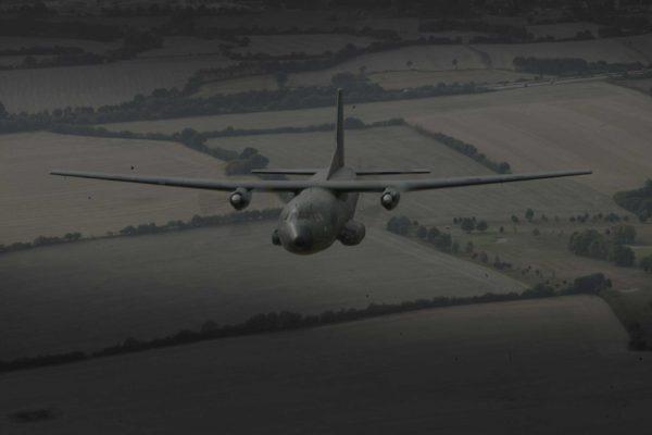 Transall im Flug